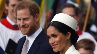 Harry and Meghan: considered for a Canberra posting.
