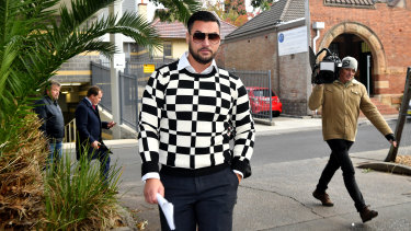 Salim Mehajer leaves Burwood Court on Tuesday afternoon having been granted bail.