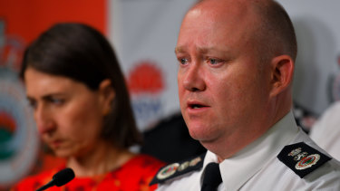 RFS Commissioner Shane Fitzsimmons said the deadly crash was a sobering reminder of the high risks firefighters face.
