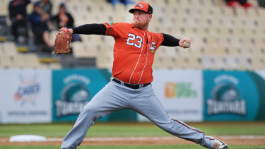 Canberra Cavalry pitcher Steve Kent has been in good form this season.