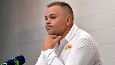 From bad to worse ... Broncos coach Anthony Seibold has endured a shocking year.