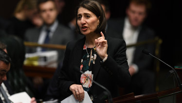 NSW Premier Gladys Berejiklian voted against an amendment proposed by her Attorney General.