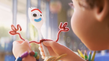 Toy Story 4 introduces a new character, Forky.