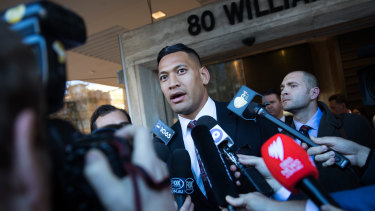Reason for hope? Israel Folau will welcome the news from Britain's Court of Appeal.