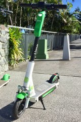 The new third-generation Lime scooter.