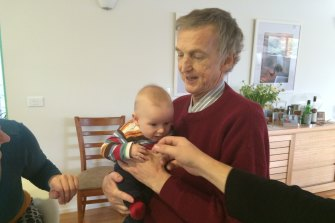 Graham Candy with his grandson, Jethro. Mr Candy died about two months later.