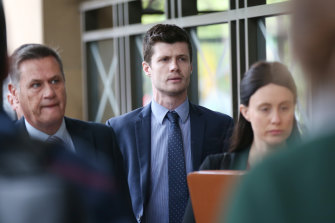 Benjamin Fitt arrives at court on Tuesday.