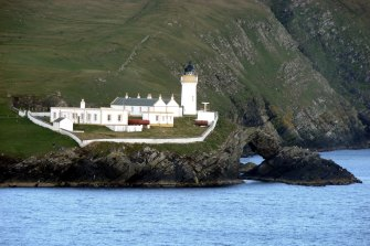 Bressay Lighthouse south of Lerwick.