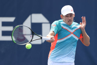 Alex de Minaur has reached the third round of the US Open for a third consecutive year.