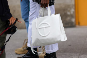 Aspirational and affordable: the Telfar shopping bag.