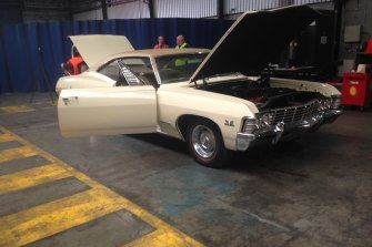 The imported Chevrolet Impala containing $20 million in ice and cocaine.
