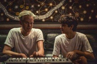 Nick Littlemore and Budjerah at Rockinghorse Studio.