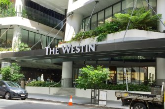 The Westin Hotel in Mary Street, Brisbane, is one of several that have been used for hotel quarantine in the city.