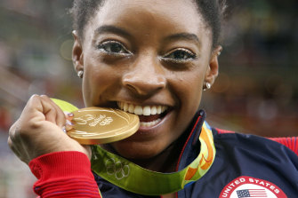 American gymnast Simone Biles was the sportswoman of the year.