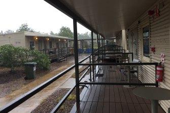 The remote Howard Springs quarantine facility outside Darwin.