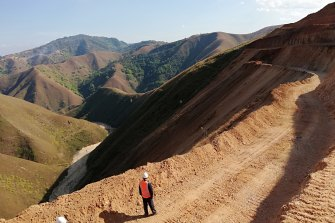 The road to riches: The access track to the Bawdwin silver mine in Shan State, Myanmar.