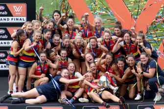 The 2018 AFLW grand final attracted a crowd of 58,000.
