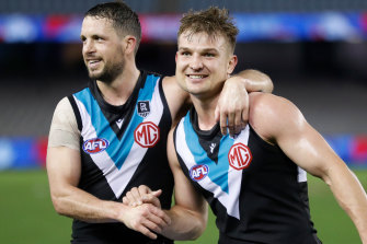 Travis Boak and Ollie Wines enjoyed outstanding seasons for the Power.