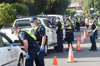 Police checkpoints on the Victoria-NSW border will remain for at least another week, Health Minister Martin Foley confirmed.