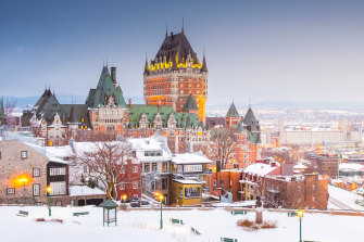 In the snow, Quebec City's Fairmont Le Château Frontenac looks like something out of a fairy tale.