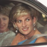 Princess Diana arrives at the Sydney Entertainment Centre in 1996 for the Victor Chang ball.