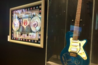 A piece of memorabilia celebrating Savage Garden's self-titled 1997 debut album also features at the Museum of Brisbane's High Rotation exhibition.