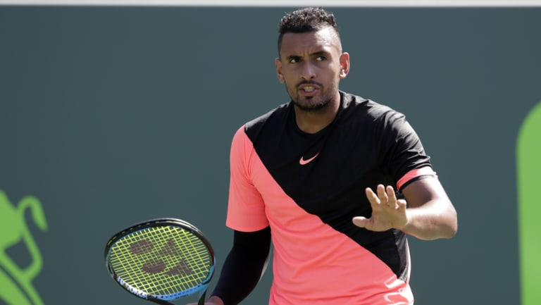 Nick Kyrgios is back in Canberra.