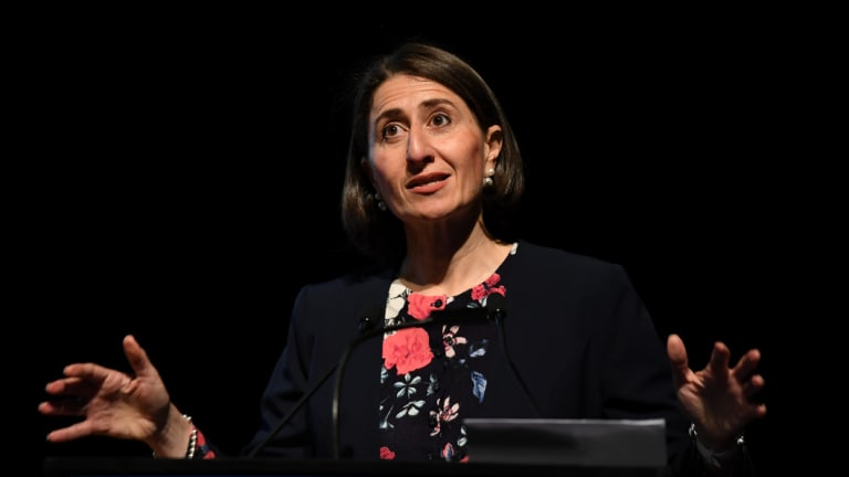 Premier Gladys Berejiklian is distancing her government from the Federal Coalition on key policy issues.