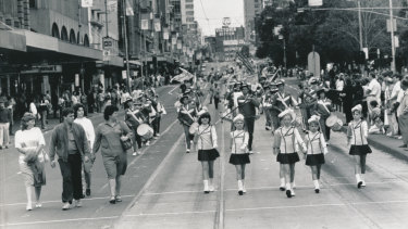 There wasn't much of a crowd for the Australia Day march in 1988.