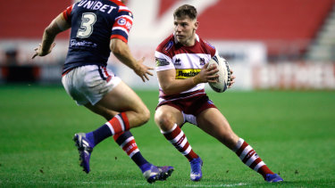 Target: Wigan halfback George Williams is on Canberra's radar for the 2020 season.