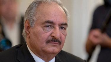Libyan militia commander General Khalifa Hifter.
