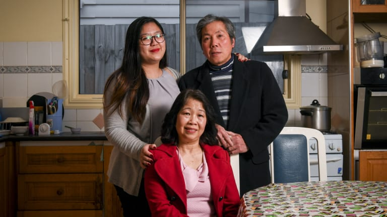 Diep Tran and Sang Li with their daughter Celia Tran.