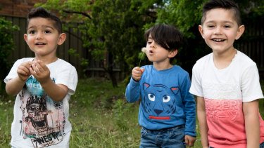 Samuel, Hiwa and Emmanuel are unable to attend childcare because their families are in Sydney on refugee bridging visas.