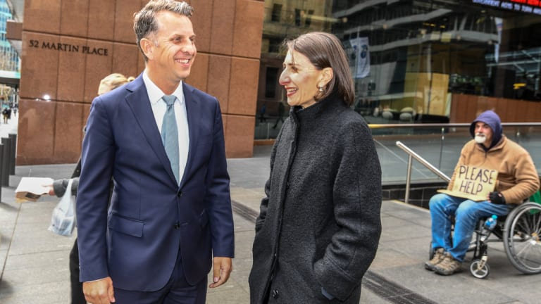 Andrew Constance and the Premier at Martin Place.
