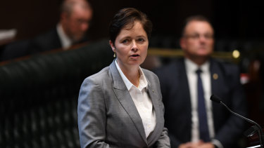 Liberal MP Tanya Davies during the lower house debate