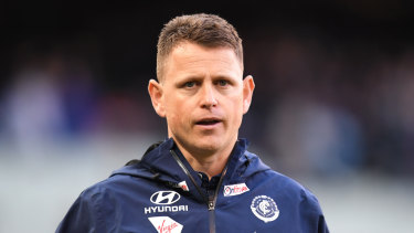 Backed by the board: Carlton coach Brendon Bolton.