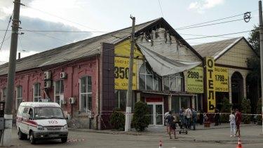 Australian reportedly among nine killed in Ukraine hotel fire