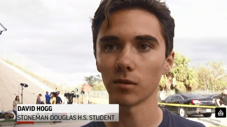 Senior student David Hogg, who narrowly escaped being shot at Marjory Stoneman Douglas High School, was targeted by right-wing conspiracy theorists.