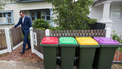 Red, yellow, green and purple: Meet the new bin in your yard