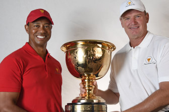Presidents Cup captains Tiger Woods and Ernie Els