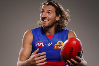 Straining at the leash: Bulldogs captain Marcus Bontempelli is keen to atone for the disappointing loss to Collingwood in their one-and-only match this season.