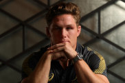 ODAWARA, JAPAN - SEPTEMBER 14:  Michael Hooper of Australia poses for a portrait following a 2019 Rugby World Cup arrival press conference on September 14, 2019 in Odawara, Japan. (Photo by Dan Mullan/Getty Images)