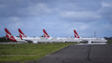 Qantas and Jetstar are parking 50 planes at Avalon Airport near Geelong until the coronavirus crisis is over.