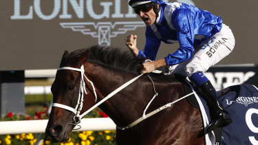 The queen: Winx will not be heading to Royal Ascot as she enteres the twilight of her career