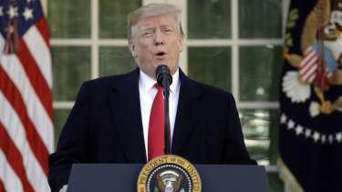 US President Donald Trump announced he would re-open the government for three weeks to begin negotiations on border security.