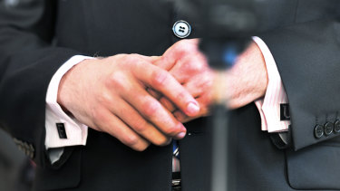 "LNP MP Jarrod Bleijie's ""F"" and ""U"" cufflinks caused a stir during estimates hearings."