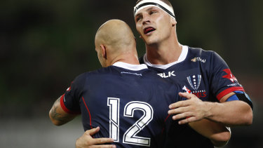 Good Luke: Rebels forward Jones again displayed his Wallaby credentials against the Lions.
