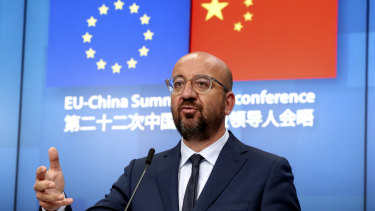 European Council President Charles Michel says concerns were reiterated over China's treatment of minorities in Xinjiang and Tibet, and the treatment of human rights defenders and journalists.