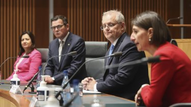 Australians had more confidence in the governments of Victorian Premier Daniel Andrews and NSW Premier Gladys Berejiklian than Prime Minister Scott Morrison throughout the coronavirus pandemic, ANU research shows.