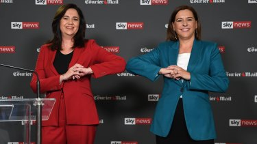 Red v Blue: the leaders face off in the first of two debates in three days as the campaign hits the final stretch.